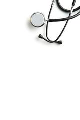 Stethoscope on white background.