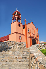 La Crucecita, Bahias De Huatulco, Oaxaca State, Mexico; Low Angle View Of Guadalupe Virgin Church