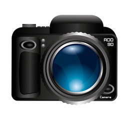 camera lens photographic icon vector illustration design