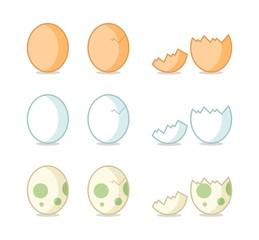 Cracked Egg Carton Vector Illustration