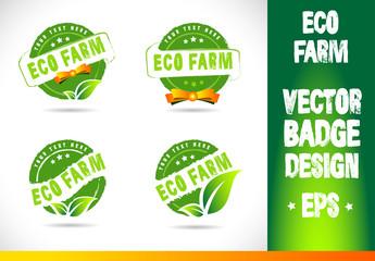 Eco farm Badge Vector