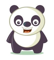 Little Panda Cartoon Vector Illustration