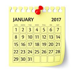 January 2017 - Calendar