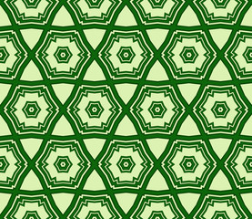 pattern of geometric shapes. Seamless vector illustration. green color.