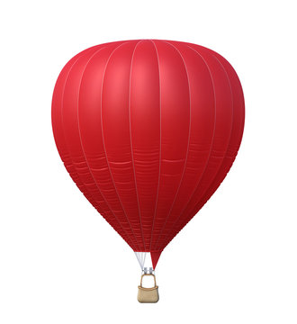 Hot air red balloon isolated
