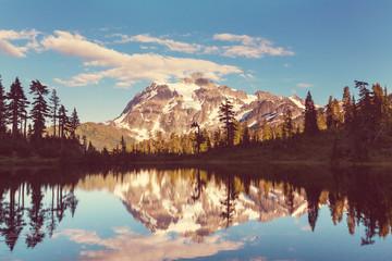 Aluminium Prints Mountains Picture lake