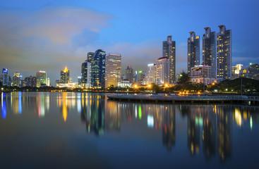 cityscape at Benchakitti Park,Thailand
