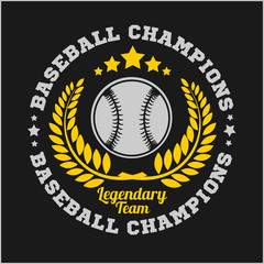 Baseball tournament vector emblem for t-shirt