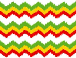 classic reggae color music background. Jamaica chevron seamless