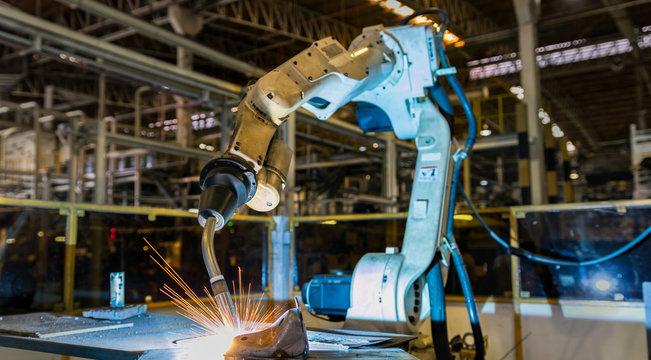 Robot welding automotive part
