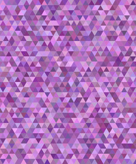 Purple regular triangle mosaic background design