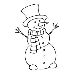 Cartoon snowman.