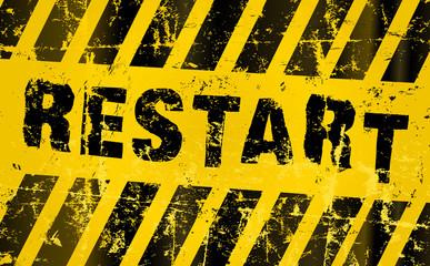 restart sign. Grungy vector