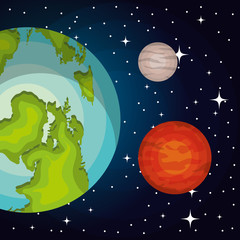 astronomy system solar planets isolated vector illustration eps 10