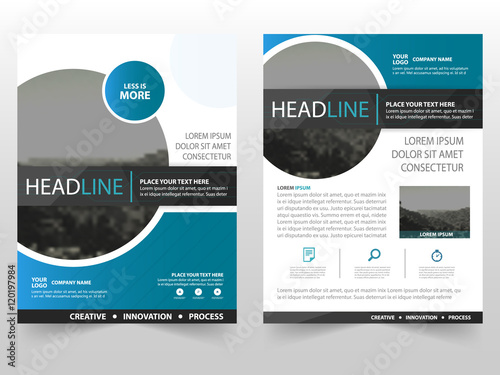 Blue Circle Vector Business Proposal Leaflet Brochure Flyer - Brochure flyer templates