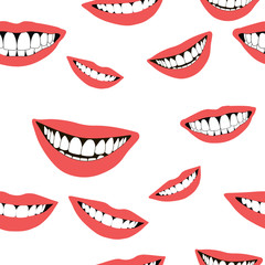 Cheerful seamless pattern with smiles