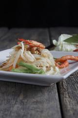 Thai salad or papaya salad