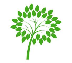 tree icon in flat design