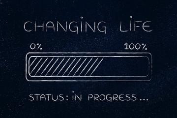 changing life progress bar loading