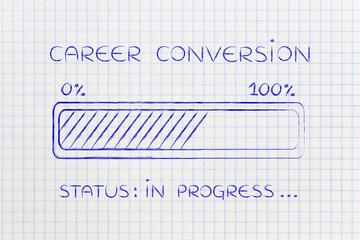 career conversion progress bar loading