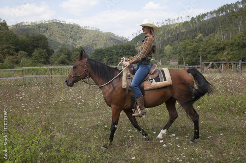 quotcowgirl a cavalloquot stock photo and royaltyfree images on