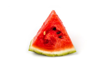 piece of watermelon red on a white background