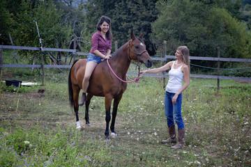 la prima lezione di equitazione