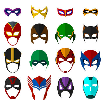 Super hero masks set