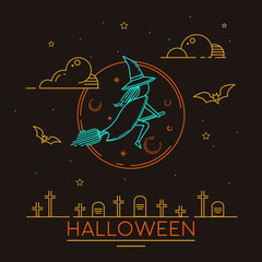 Halloween witch illustrations