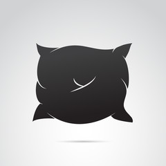 Pillow icon on white background. Vector art.