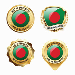 Made in Bangladesh. Badges.