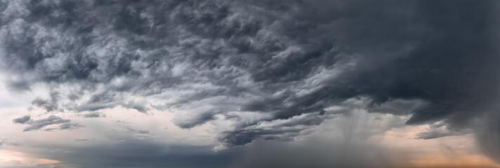 Stormy sky panorama Wall mural