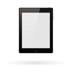 Реалистичный компьютер планшет ПК с пустым экран, изолированные на белом фоне. Векторные иллюстрации.