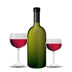 wine label design isolated vector illustration eps 10
