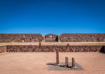 Ruins of Tiwanaku (Tiahuanaco), Pre-Columbian archaeological site - La Paz, Bolivia