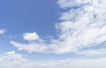 cloudscape on blue sky for background