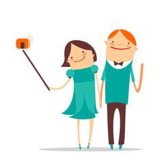 selfie romantic couple