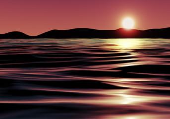 Vintage Graphics of Sunset