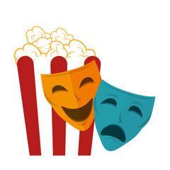 icon pop corn cinema design vector illustration eps 10