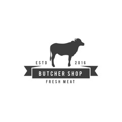 Butchery Logos, Labels, and Design Elements vintage design vector