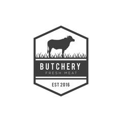 Butchery Logos, Labels, and Design Elements vintage design vector