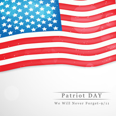 Illustration of U.S.A Flag for Patriot Day