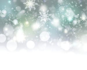 Xmas new year winter blurred lights illustration background.