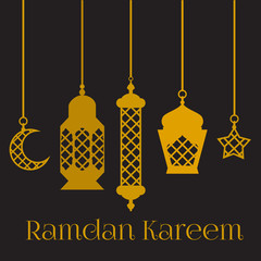 Ramadan Kareem - Islamic Holy Nights, Theme Design background, Ramadan latern, saint fest, arabian and turk religion culture set,