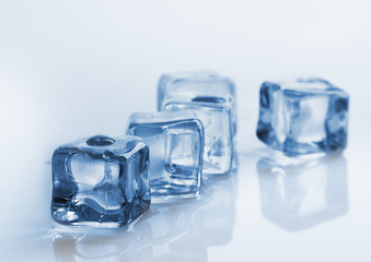 Beauty fresh ice cubes studio shot