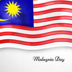Illustration of Malaysia Flag for Malaysian Day
