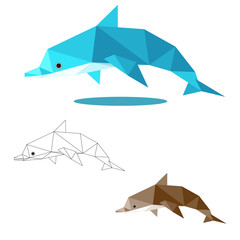 dolphin low polygon