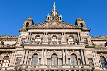 The City Chambers or Municipal Buildings in Glasgow, Scotland.