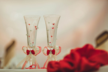 beautiful glasses made for young couple