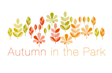 autumn leaves vector illustration abstract. full leaf header in